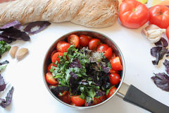 Cooking tomatoes sauce Royalty Free Stock Image