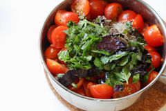 Cooking tomatoes sauce Royalty Free Stock Photo