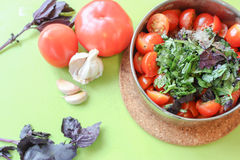 Cooking tomatoes sauce Stock Photo