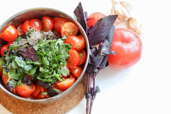 Cooking tomatoes sauce Royalty Free Stock Images