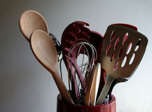 Cooking Tools. A bucket of cooking utensils Royalty Free Stock Photos