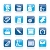 Cooking tools icons Royalty Free Stock Photo