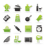 Cooking tools icons. Vector icon set royalty free illustration