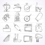 Cooking tools icons Stock Photos