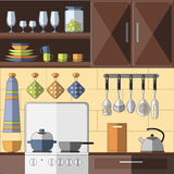 Cooking tools and items set. Stock Images