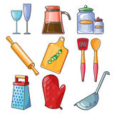 Cooking tools and kitchenware equipment Royalty Free Stock Photo