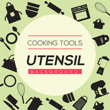 Cooking Tools And Utensil Background. Stock Photo