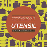 Cooking Tools And Utensil Background. Royalty Free Stock Images