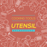 Cooking Tools And Utensil Background. Stock Photos