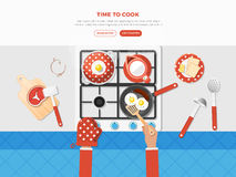 Cooking Top View Poster Royalty Free Stock Image
