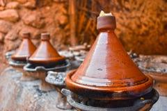 Cooking traditional Moroccan tajine Stock Photo