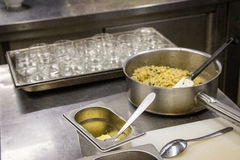 Cooking a Truffle Pasta Risotto Royalty Free Stock Photography