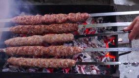 Cooking Turkish Kebap stock footage
