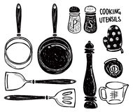 Cooking utensil doodle Stock Photography