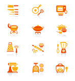 Cooking utensil icons || JUICY series Stock Image