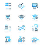 Cooking utensil icons || MARINE series Royalty Free Stock Photo
