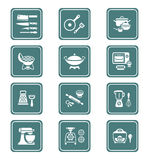 Cooking utensil icons || TEAL series Royalty Free Stock Image