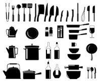 Cooking utensils royalty free illustration