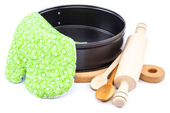 Cooking utensils for baking on white background. Stock Photography