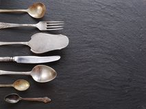 Cooking utensils on a dark background. Stock Photography