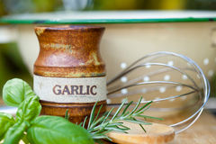 Cooking - Utensils and Herbs Stock Photos