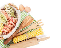 Cooking utensils and ingredients Royalty Free Stock Photo