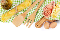 Cooking utensils and ingredients Stock Photography