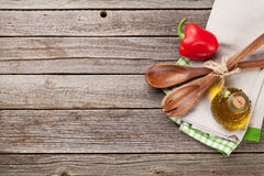 Cooking utensils and ingredients Stock Image
