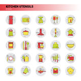 Cooking Utensils Kitchen Equipment Appliances Set Icon Royalty Free Stock Image