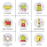 Cooking Utensils Kitchen Equipment Appliances Set Icon Royalty Free Stock Photo