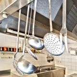 Cooking utensils in a kitchen Stock Photography