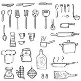 Cooking utensils set Stock Image