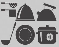 Cooking utensils Shapes Stock Photography