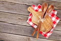 Cooking utensils on wooden table Stock Photography