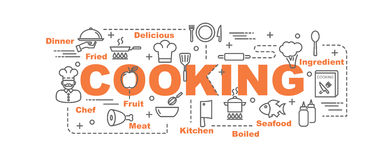Cooking vector banner Stock Photography