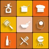 Cooking vector icons Stock Images
