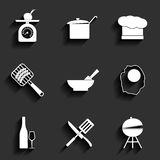 Cooking vector icons Stock Image