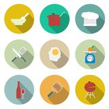 Cooking vector icons Royalty Free Stock Photos