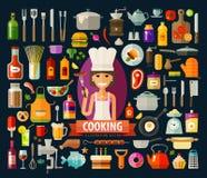 Cooking vector logo design template. food Royalty Free Stock Photos