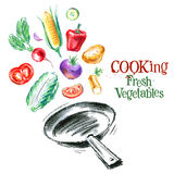 Cooking vector logo design template. fresh Stock Images