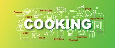 Cooking vector trendy banner Stock Photo