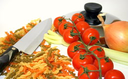 Cooking vegetable pasta Stock Image