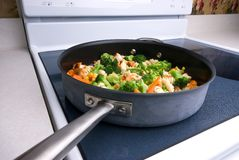 Cooking vegetables Stock Photography