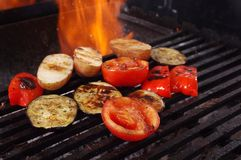 Cooking vegetables  barbecue Royalty Free Stock Photo