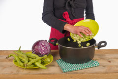 Cooking with vegetables Stock Image