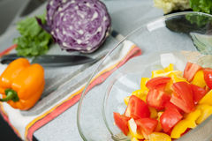 Cooking vegetables food Stock Photos