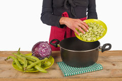 Cooking with vegetables at home Royalty Free Stock Images