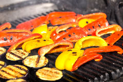 Cooking Vegetables On The Grill Stock Images