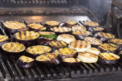 Cooking Vegetables On The Grill Royalty Free Stock Images