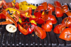 Cooking Vegetables On The Grill Stock Photography